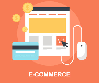 Vector illustration of e-commerce flat design concept.